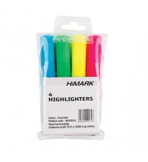 HiGlo Highlighter Assorted Pk4