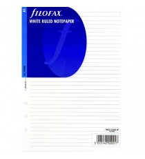 Filofax A5 Refill Wht Ruled Shts 343008