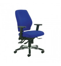 Agility High Back Posture Chair Blue