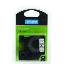 Dymo D1 Flex Nylon Tape 12x3.5M Blk/Wht
