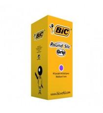 Bic Purple Stic Grip Classpack Pk 40