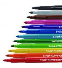 Swash Kmfgrp Pen Brd Asstd Pk12 TW12BD