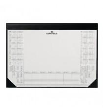 Durable Calendar Desk Mat Black