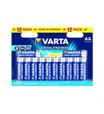 VARTA High Energy Battery AA Pk 12