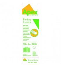 Fellowes Apex Plastic Comb P100 Blk 6mm