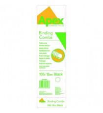 Fellowes Apex Plastic Comb P100 Blk 12mm