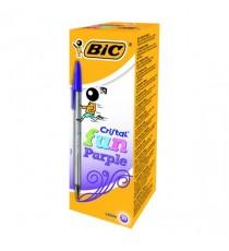 BIC Cristal Fun Purple Ball Pen