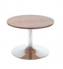 FF Low Bistro Table Trumpet Base Walnut