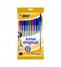 Bic Cristal Ball Point Pens Assorted