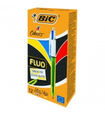 Bic 4 Colours Fluo Ballpoint Pen 933948