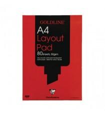 Goldline Layout Pad A4 GPL1A4