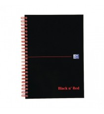 Blk n Red Notebook A5 Indexed 100080194