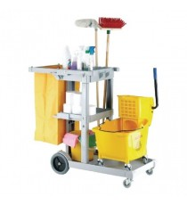 Blue Multipurpose Janitorial Trolley