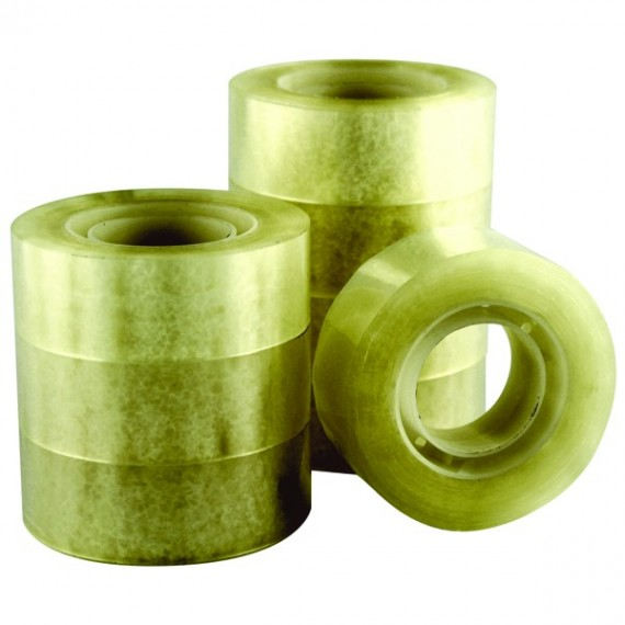 Q-Connect 19mmx33m Easy Tear Tape PK8