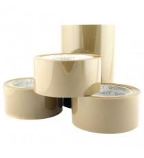Q-Connect Low Noise Brown Tape 50mm Pk6