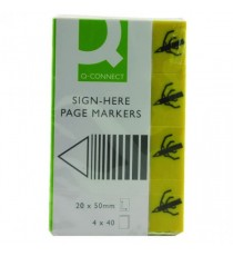 Q-Connect Yellow Quick Sig Markers Pk160