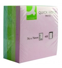 Q-Connect Pastel Quick 76x76mm Note Cube