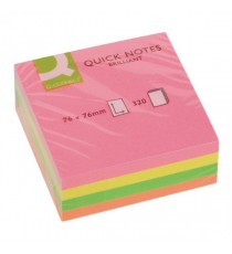 Q-Connect Neon Quick Note Cube 76x76mm