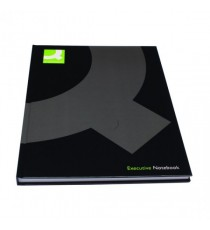 Q-Connect Hardback Notebook A4 Black Pk3