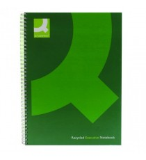 Q-Connect Hardback Notebook A4 Green Pk3
