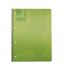 Q-Connect PP Spiral Pad A4 Green Pk5