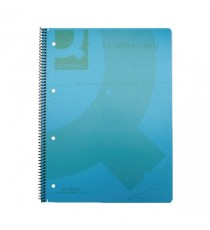 Q-Connect PP Spiral Pad A4 Blue Pk5