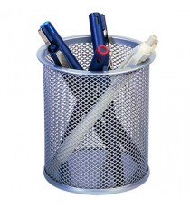 Q-Connect Silver Mesh Pen Pot
