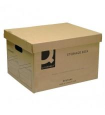 Q-Connect Brown Storage Box 335x400x250