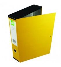 Q-Connect 75mm Box File FC Yellow Pk5