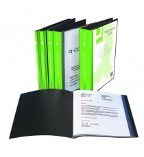 Q-Connect Pres Display Book 10Pkt Black
