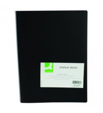 Q-Connect Display Book 40 Pocket Black
