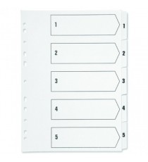 Q-Connect 1-5 Punched Index A4 White