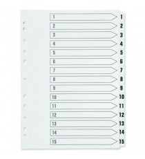 Q-Connect 1-15 Punched Index A4 White