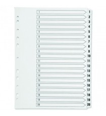 Q-Connect 1-20 Punched Index A4 White