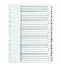 Q-Connect 1-31 Punched Index A4 White