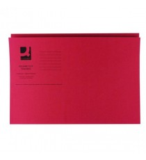 Q-Connect Sq Cut Folder 250gsm Red Pk100