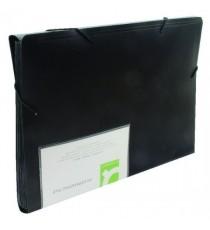 Q-Connect Expanding File 13-Pocket Black