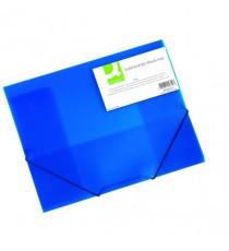Q-Connect Elasticated Folder A4 Blue