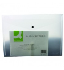 Q-Connect Document Folder A4 Clear Pk12