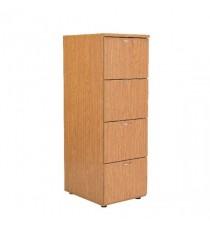 FF Jemini Oak 4 Drw Filing Cabinet
