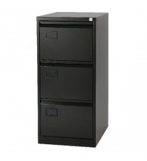 Jemini 3 Drawer Filing Cabinet Blk