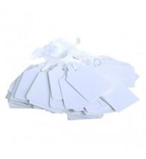 White 30x21mm Strung Ticket Pk1000