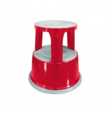 Q-Connect Red Metal Step Stool