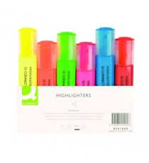 Q-Connect Highlighter Pen Asstd Pack-6
