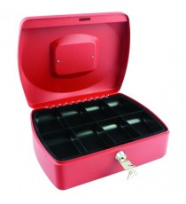 Q-Connect Red 10 Inch Cash Box