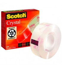 Scotch Crystal Clear Tape 19mmx33M 600