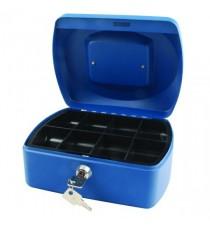 Q-Connect Blue 8 Inch Cash Box