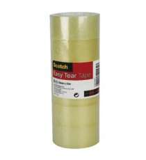 Scotch Easy Tear 24mmx33m Clear Tape Pk6