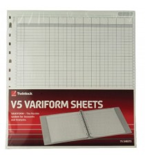 Variform V5 10 Column Cash Refill Pk75