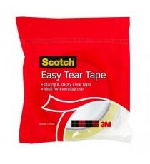 3M Scotch Easy Tear Clear Tape Roll